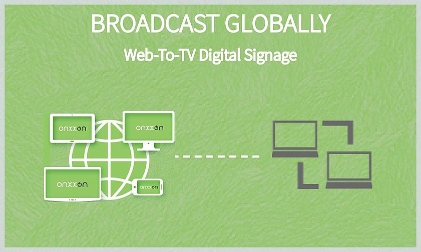 Onxxon Media Broadcasting, Web-to-TV, Digital Signage Android app